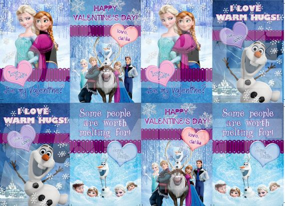 72 best images about Frozen Valentines – Disney Printable Valentine Cards