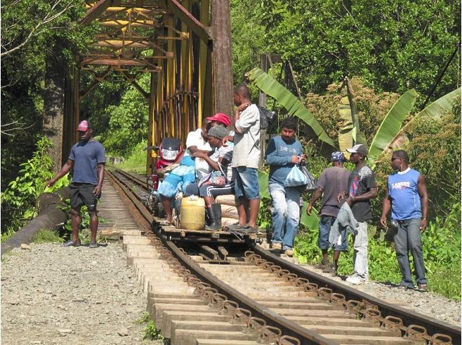 San Cipriano, Colombia - only accessible by hand railroad