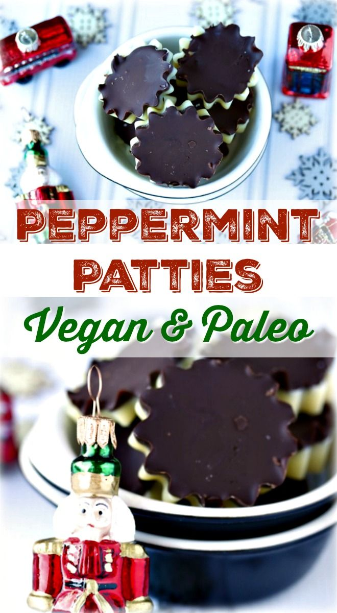 Peppermint Patty recipe that is vegan and paleo, with no refined sugars or oils. This recipe is also dairy-free and gluten-free and perfect for a healthy holiday gift or treat.