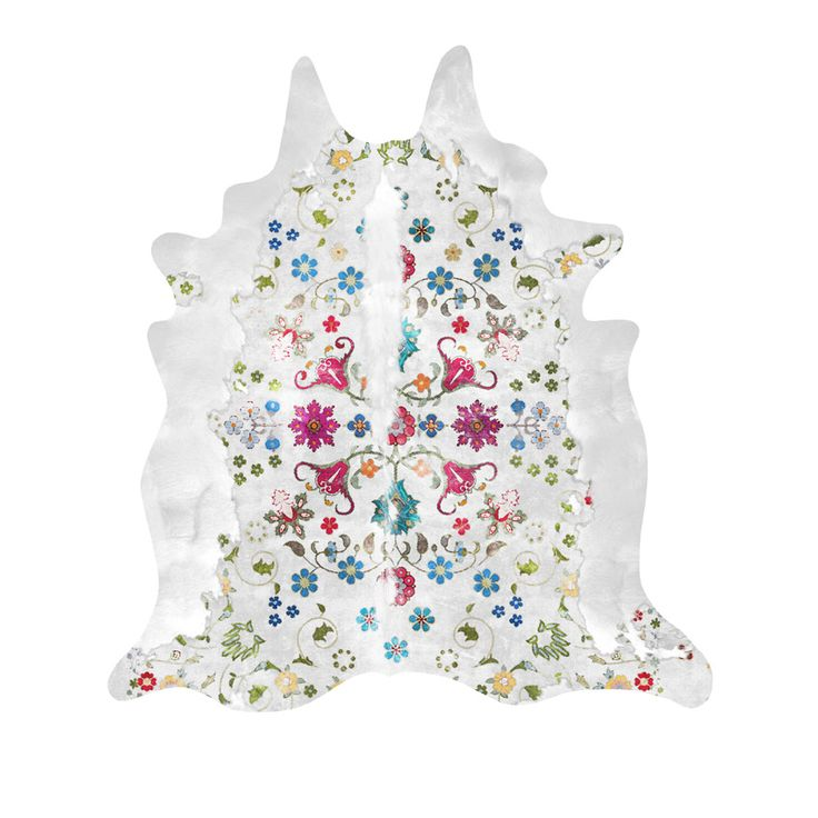 Gypsy Cowhide Rug (White). Buy online today at Bouf