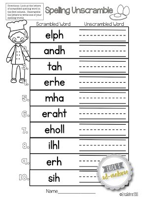 Erica's Ed-Ventures: Spelling Homework Menu & Something about a Sale