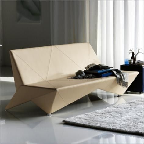 Adjustable origami sofa bed in white  #Interior  #Design  #Furniture   #Residential #Founterior MOdern
