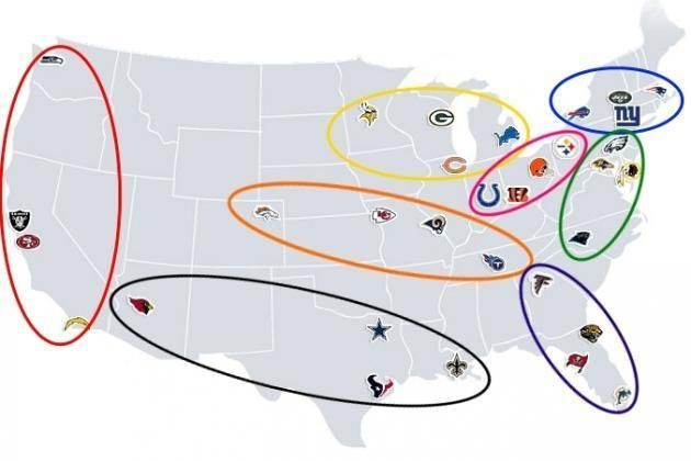 Geographically-Based NFL Divisions