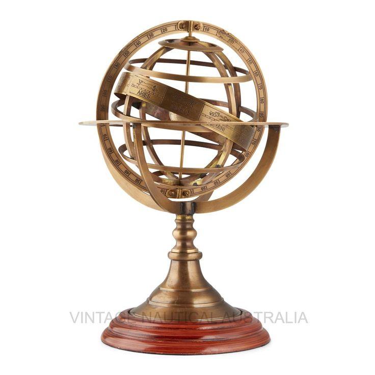 Brass Armillary (Astro) Globe