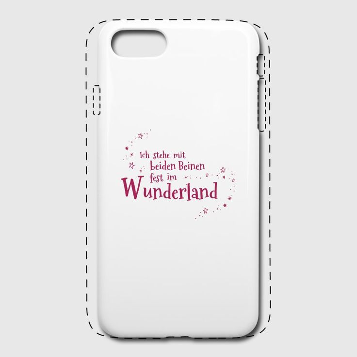 Ich stehe mit beiden Beinen fest im Wunderland - iPhone 7  Premium Case