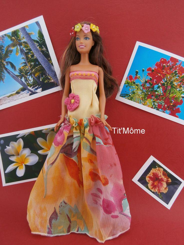 Robe du pacifique pour poupée Barbie : Jeux, jouets par tit-mome