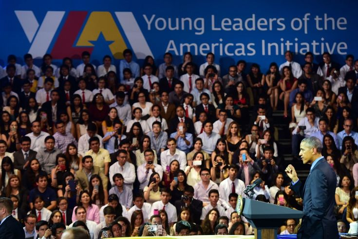 Barack Obama Photos Photos - US President Barack Obama speaks during a meeting with students at the Pontifical Catholic University of Peru in the sidelines of the Asia-Pacific Economic Cooperation (APEC) Summit in Lima on November 19, 2016..Obama faced tough questions about Donald Trump's victory on the last foreign visit of his presidency, to a summit of Pacific leaders that has been upended by the US election and concerns about China's rise. / AFP / Martin BERNETTI - President Obama Visits…