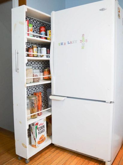 DIY Rolling Kitchen Pantry DIY Space Saving Kitchen