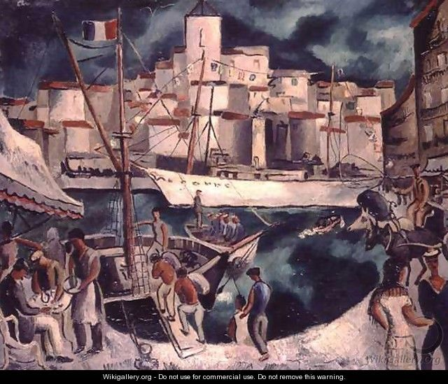 Marseilles Harbour (1927) by Christopher Wood