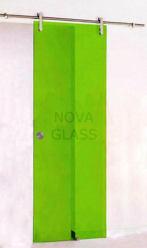 Συρόμενη γυάλινη πόρτα 10mm 80Χ200 λαχανί