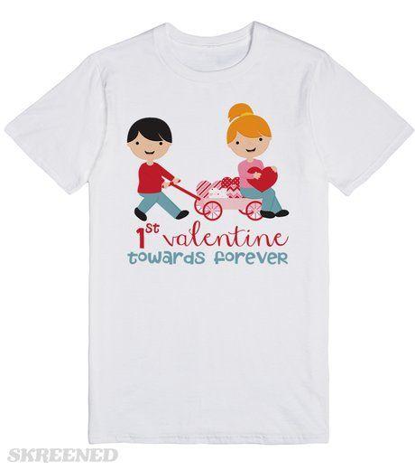 Valentines Day Gift Idea | 1st Valentines Day T-Shirt | Valentines Day Gift Idea | 1st Valentines Day T-Shirt #Skreened