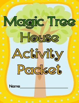 Magie Tree House Activity Packet - can be used with any Magic Tree House book (new packet cover)