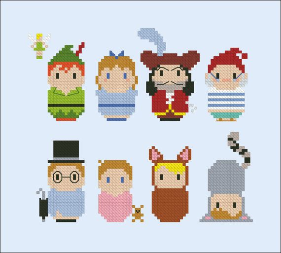 Peter Pan parody Cross stitch PDF pattern by cloudsfactory