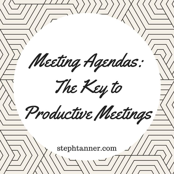 The 25+ best Meeting agenda template ideas on Pinterest