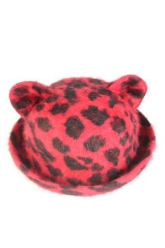 Leopard Cat Ear Bowler