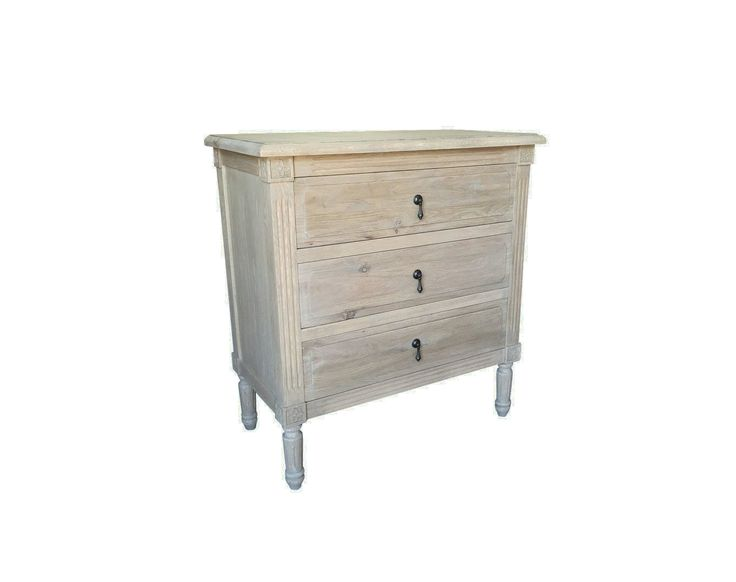 FRANCIS Weathered Oak Large Bedside Style My Home Sydney Australia Hamptons Country Coastal