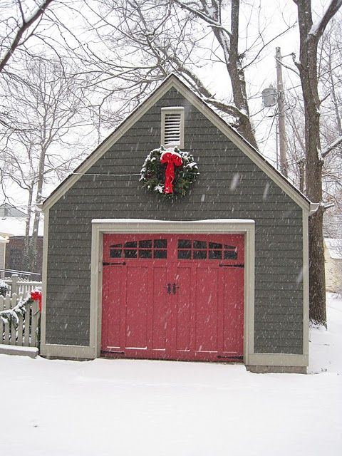 Maybe i should paint my front door more this type of red for Garage door colors