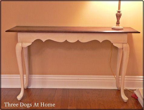 Transforming Old Oak Sofa Table