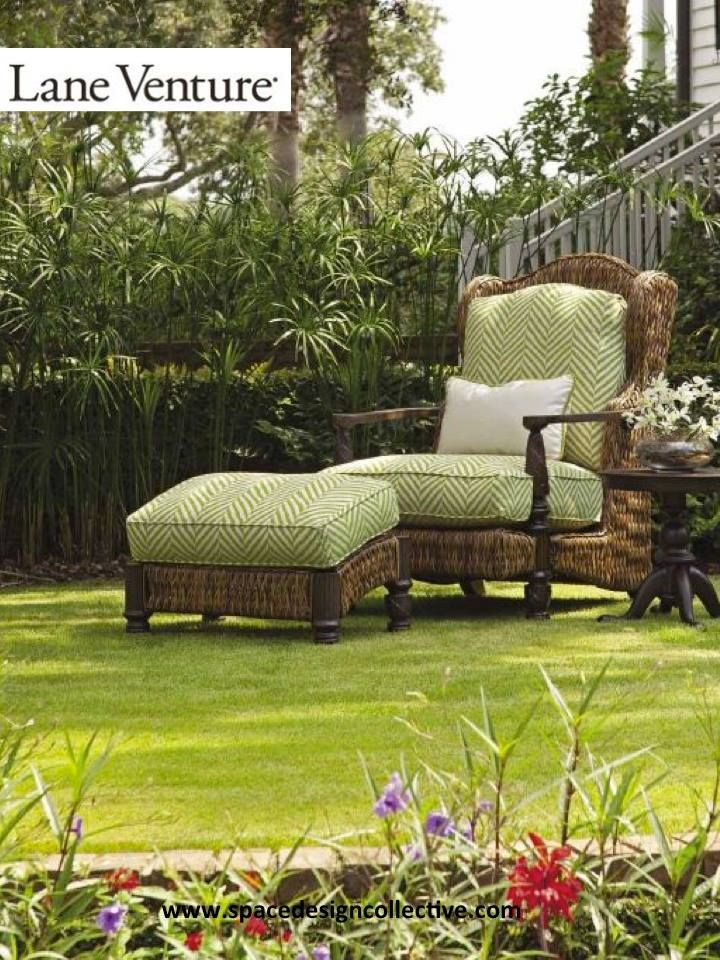 Seen here: Plantation Chaise & Ottoman Royal Plantation Collection  Available at Space Design Collective www - 11 Best Outdoor Furniture By Lane Venture Images On Pinterest