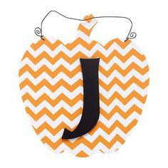 'Tis the season for pumpkin everything, and this monogrammed sign is the perfect touch! Pumpkin Initial J Wall Hanger, 11