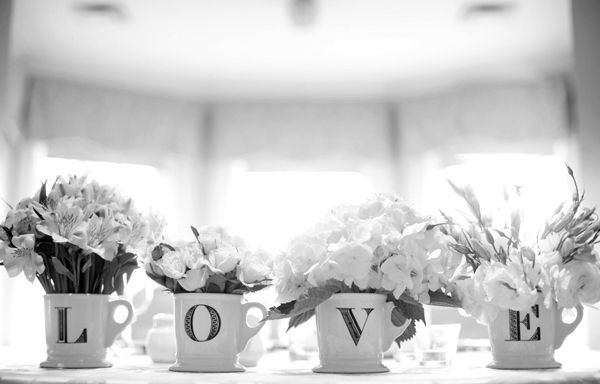 I love love.: Bridal Brunch Decor, Memorial Cups, Stuff, Anthropology Mugs, Bridal Shower, Black And White Photography, Bridal Parties, Coffee Mugs, Flower