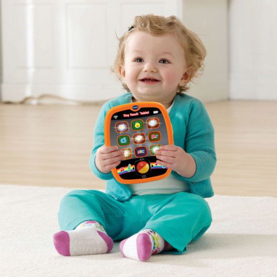 VTech Tiny Beginner Touch Tablet For Toddlers Colored Light-Up Activity Buttons #VTech