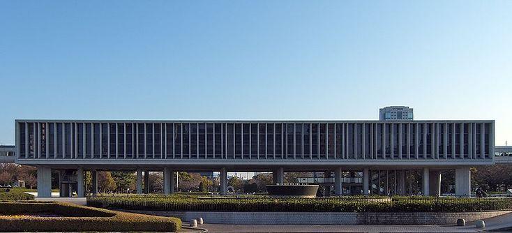 Hiroshima Peace Memorial Museum, Hiroshima, Japan 1955 Kenzo Tange
