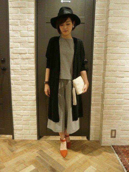 ロングカーデとの相性◎秋冬ファッションアイテム ガウンチョオールインワンを集めました!