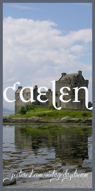 Baby Boy or Girl Name: Caelen or Caylen. Meaning: Small; Slender. Origin: Gaelic. https://www.pinterest.com/vintagedaydream/baby-names-by-me-vintagedaydream/