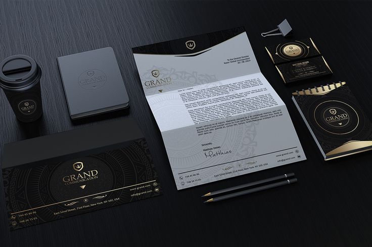 Gold And Black Corporate Identity by Marvel on Creative Market