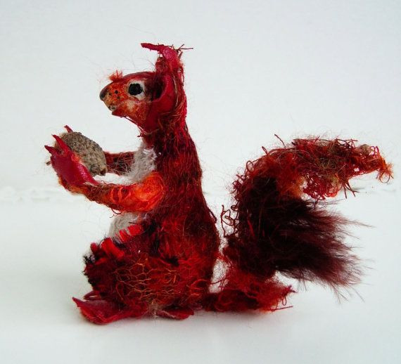 red squirrel RESERVED, Faux taxidermy squirrel, red squirrel model
