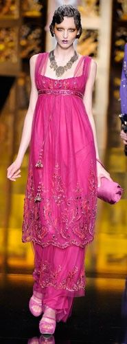Galliano for Dior runway gown