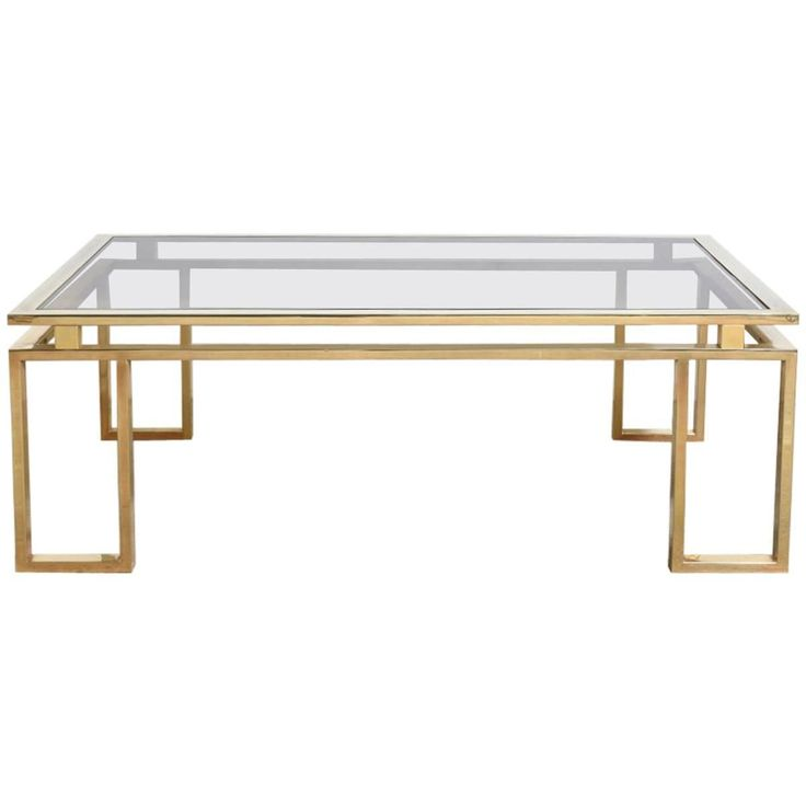 Belgo Chrome Brushed Brass Coffee Table