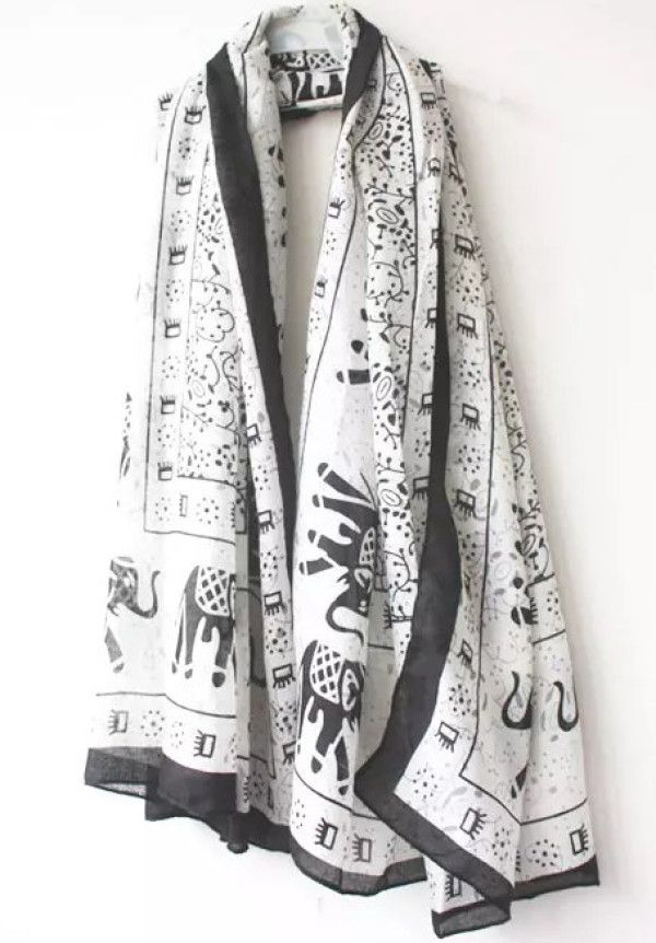 Shop White Vintage Elephants Print Scarves online. SheIn offers White Vintage Elephants Print Scarves & more to fit your fashionable needs.