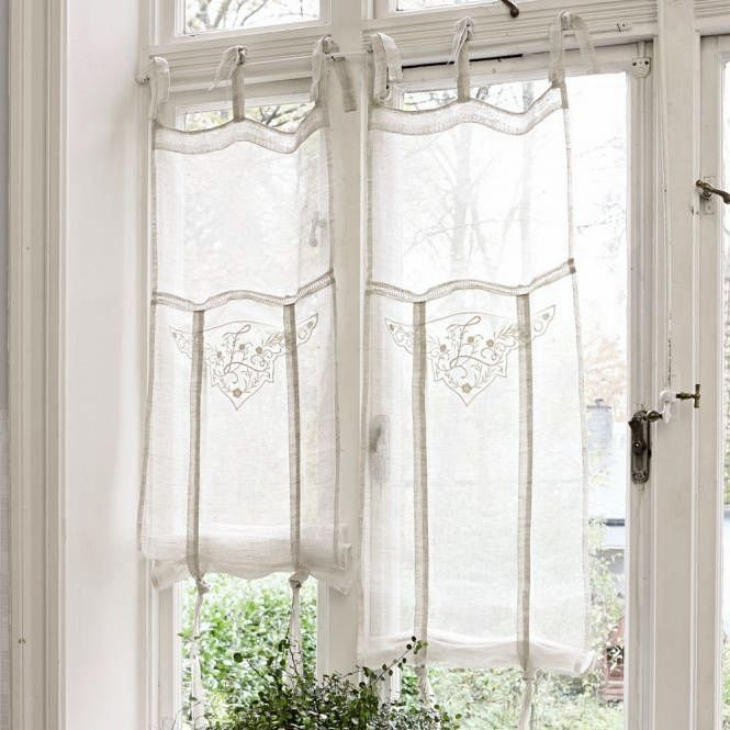 Pretty Light Airy Curtains Perfect For French Doors Via Pinterest Window Treatments