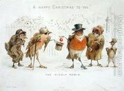 The Kindly Robin, Victorian Christmas card  by Castell Brothers