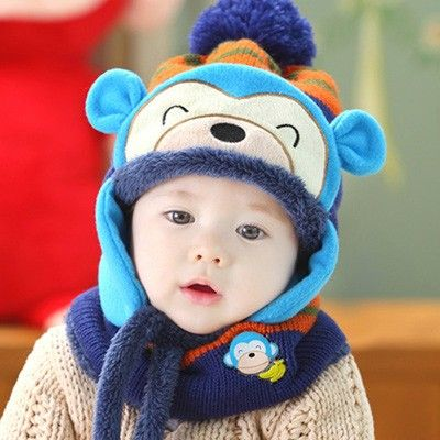 Unisex Animal Hat Scraft Set (5 Colors) Material:knitting acrylic and polyester hat and scarf set for children. Colors:red, blue, yellow,coffee, rose red,as the picture. Size:One size