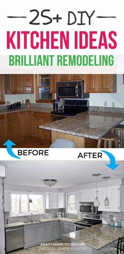 Look at these DIY Remodeling Kitchen Ideas on a Budget – they will teach you how to make a small kitchen look bigger! You can find here what are the different styles of kitchens and what are the different types of kitchen layout – get some kitchen design and decor ideas, furniture makeovers. #diy #kitchen #kitchendesign #kitchenideas #kitchenremodeling #smallkitchenremodel