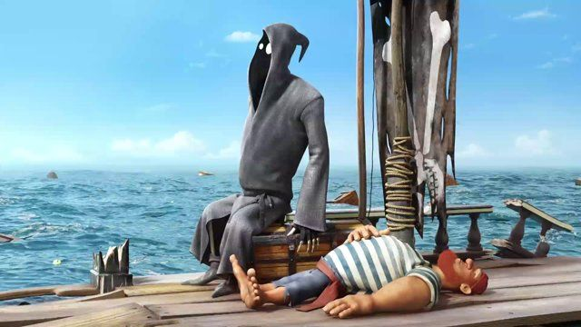 A short animated film produced by Simpals Animation Studio (Moldova).  //Synopsis  Dji is a terribly unlucky death who doesn't seem good at his job. This time he has to take the soul of a pirate stuck in the middle of the ocean, but that is easier said than done! Directed by Dmitri Voloshin  Youtube Channel: http://www.youtube.com/user/simpals  Official website: http://simpals.com/  Production Blog: http://www.tigan.md/  Facebook: http://www.facebook.com/Dji.Deathfails