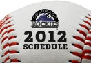 2012 Colorado Rockies Schedule