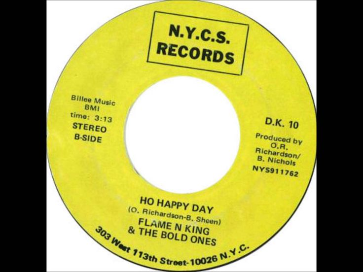 FLAME N KING & THE BOLD ONES - Ho Happy Day