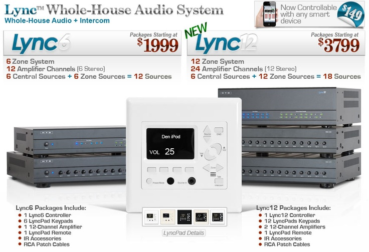 Lyncpad - an option for whole home audio AND intercom