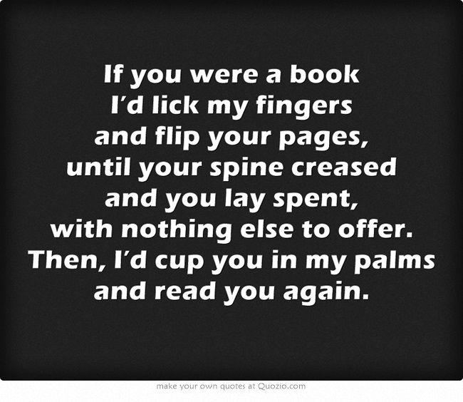 If you were a book...