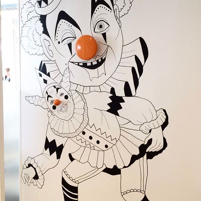 Wallpainting circus clown