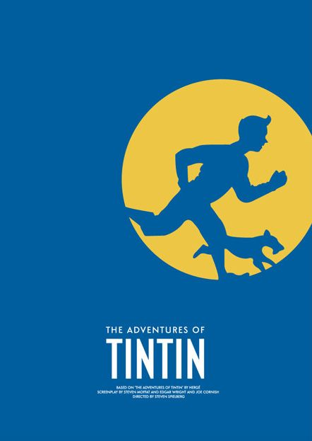The Adventures of Tintin (2011) ~ Minimal Movie Poster by David O'Mara #amusementphile