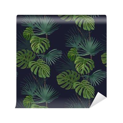 Tapeta Pixerstick Jednolite wzór z tropikalnych liści. Ręcznie rysowane tła. 365 dni na zwrot ✓ Miliony wzorów ✓ 100% Eco-Friendly ✓ Profesjonalna obsługa i doradztwo ✓ Skonfiguruj online!
