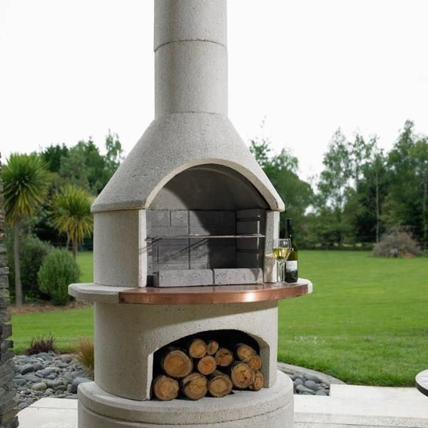 Rondo With Extension Base Pizza Oven Insert Outdoor Fireplace