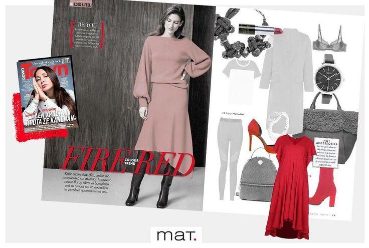 Be the lady in red! Το @downtownmaggr μας υπενθυμίζει ότι φέτος το κόκκινο είναι must & προτείνει το εντυπωσιακό #matfashion ασύμμετρο φόρεμα ως το απόλυτο κόκκινο κομμάτι! Aνακάλυψε το φόρεμα ➲ code: 681.7230 #downtownmagazine #editorial #reddress #instafashion #ootd #weekendessentials
