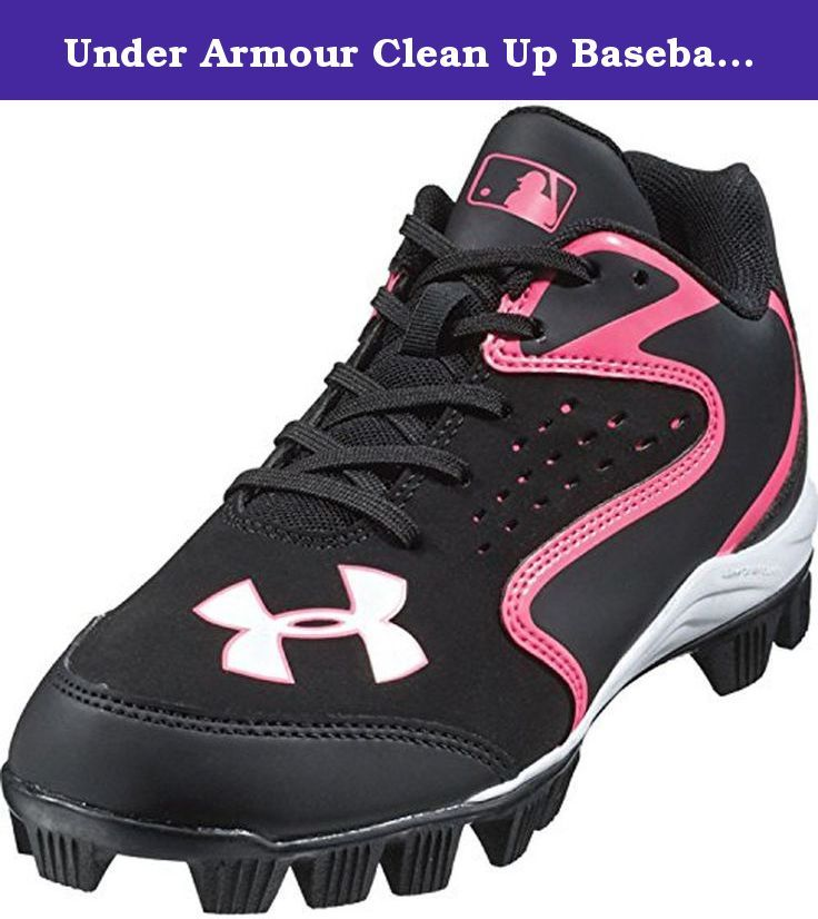 Under Armour Clean Up Baseball Cleat for Kid (5.5 M US Big Kid, Black/Pink).