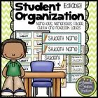 Student Organization {Chevron}: Name-tags, Nameplates, Folder, Notebook and Cubby Labels  Use these resources to create color coded classroom organ...
